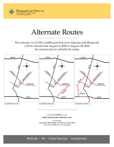 Alternate Routes Going Southbound 281